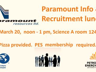 Paramount Resources Lunch and Learn