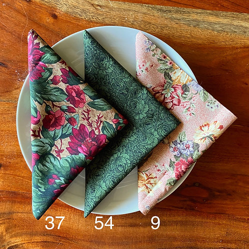 Mix, Match Vintage Cloth Dinner Napkins, 13in x 13in
