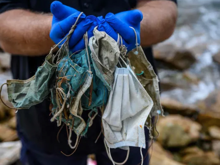Waste from single-use disposable masks are clogging beaches, oceans and waterways