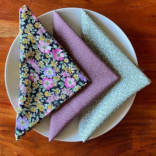Pick Your Print Vintage Cotton Cloth Napkins