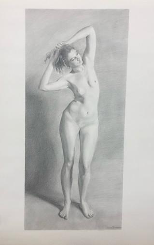 Lady Stretching