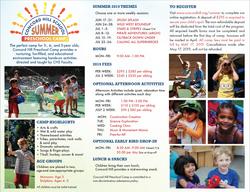 CHS Summer Brochure 2019 (back)