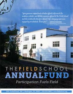 The Field School   2020 Advancement Brochure