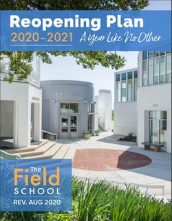 The Field School   2020 Reopening Plan