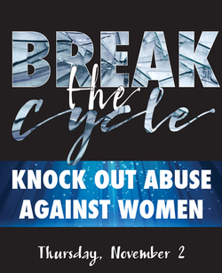 Knock Out Abuse Auction Logo