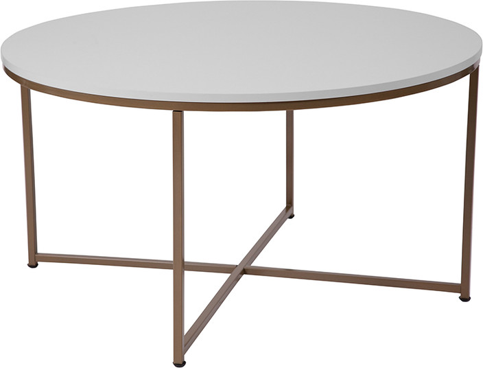 White & Gold Coffee Table