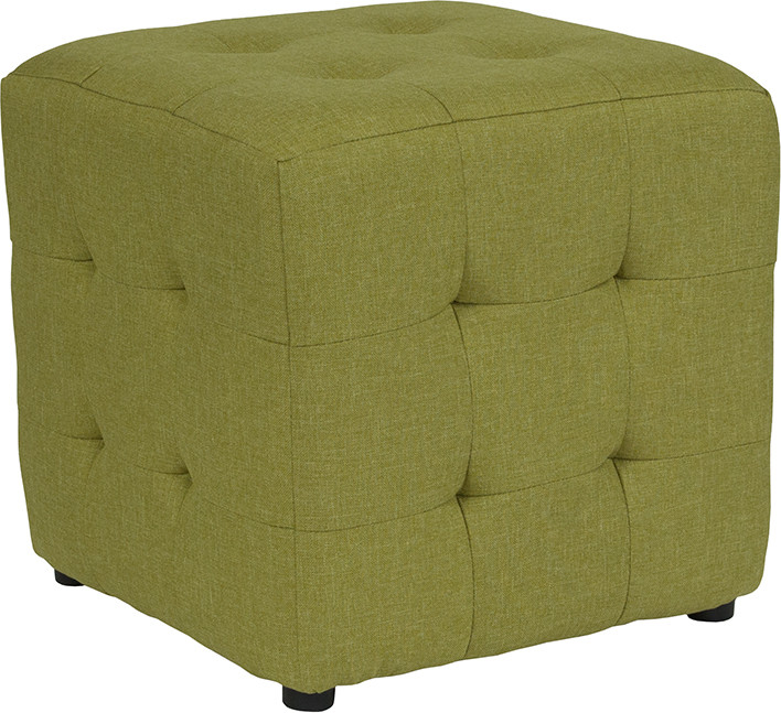 Lime Tufted Pouf