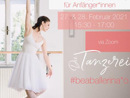 Ballett-Schnupperworkshop für erwachsene Anfänger*innen
