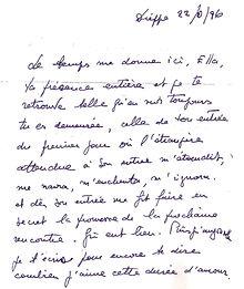 lettre  de Rouben Melik à Ella