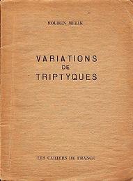 couverture livre variations de triptyques