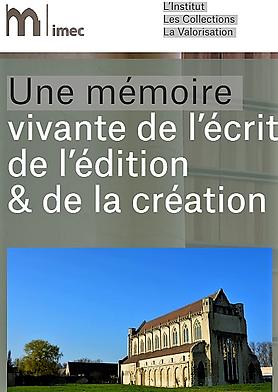 revue de l'IMEC avec photo de l'abbaye