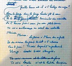 page manuscrite