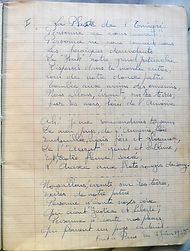page manuscrite de cahier poème l'Emigré