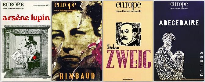 couverture livres revue Europe