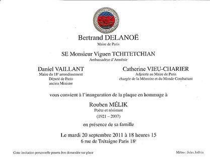 carton bertrand delanoe invitation à ceremonie