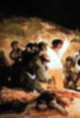 Tableau de Goya Très de Mayo partie gauche  1814