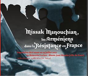 affiche exposition  les arméniens dans la résistance en France