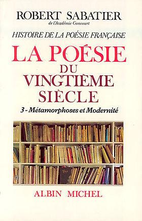 couverturedu tome 3 de l'Histoire dela  poésie française
