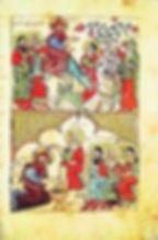 miniature représentant le christ sur dromadaire et béni