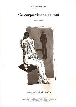 livre ce Corps vivant de moi avec dessin femme nue