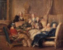 peinture petit salon littéraire 18ème siècle