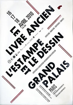 affiche salon livre ancien estampe dessin grand palais 2010