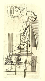 gravure Abram Krol pour le Veilleur de pierre