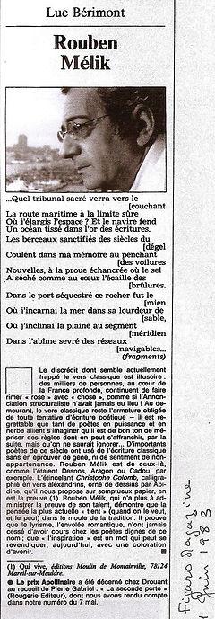 Article de presse luc Bérimont dans le Figaro Magazine