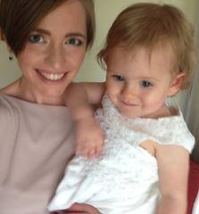 Penny Boylan holding her baby