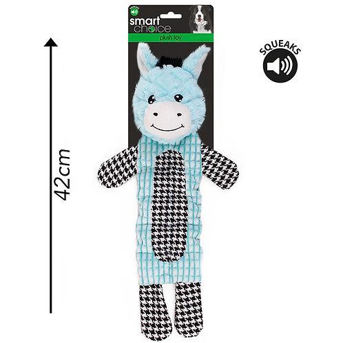 Plush Dog Toy Donkey Blue