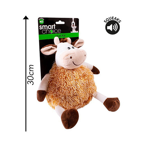 Plush Dog Toy Cow