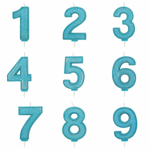 Number Candle Blue (Large)