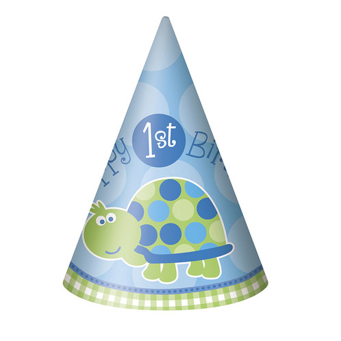 1 X Happy 1st Birthday Party Hat Blue
