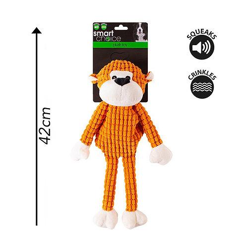 Plush Dog Toy Monkey Orange
