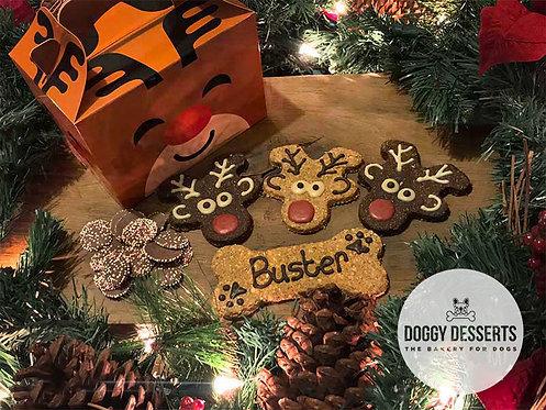 Merry Woofmas Reindeer Box
