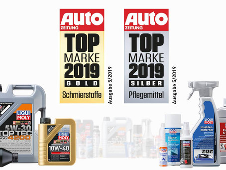 德國知名汽車雜誌AUTO ZEITUNG讀者再度評選LIQUI MOLY為「潤滑油」分類的最佳品牌!