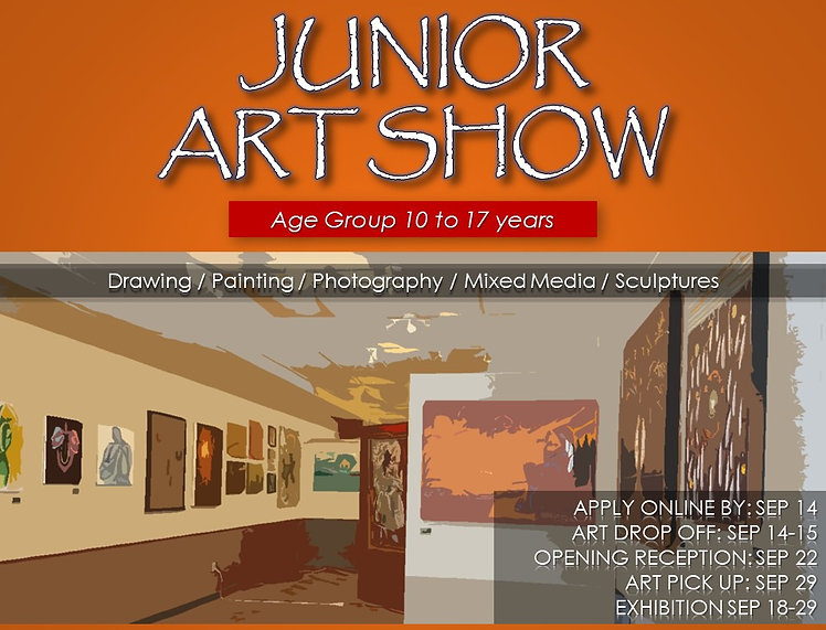 2018 0922 junior art show call for artis