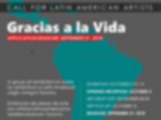 2018 1005 GRACIAS A LA VIDA  call for ar