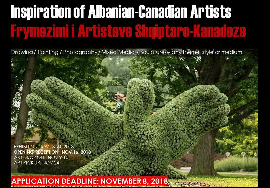 2018 1116 Albanian Arists -  call for ar