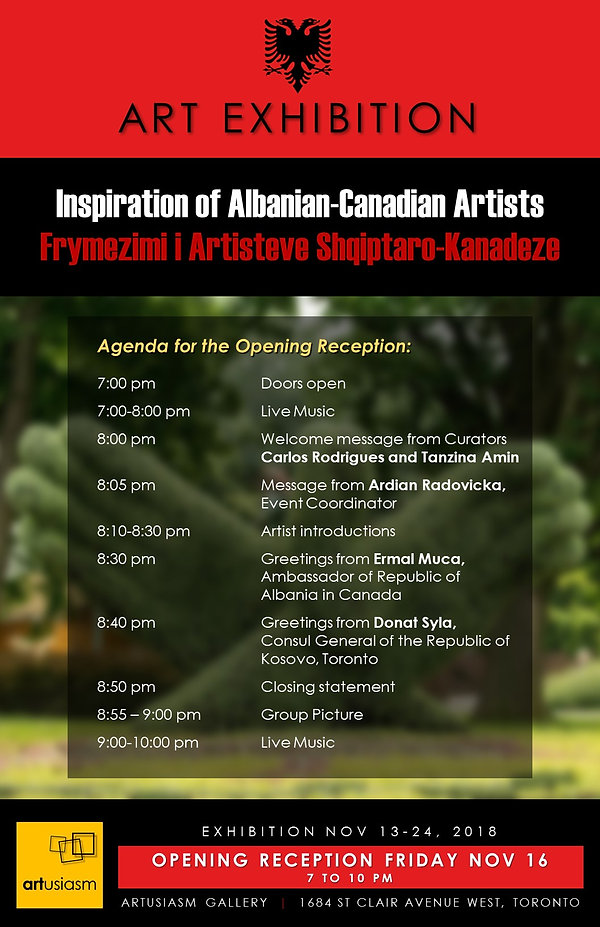 2018 1116 ALBANIAN CANADIAN EXHIBITION -