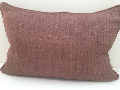 Linen cushion Herringbone Plum