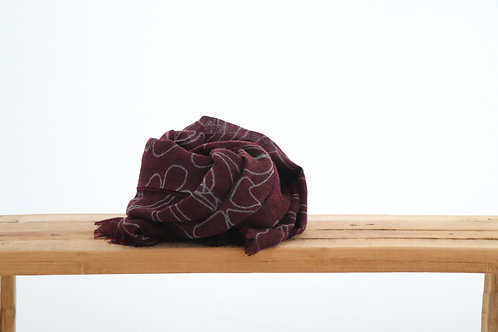 Scarf Jungle bordeaux