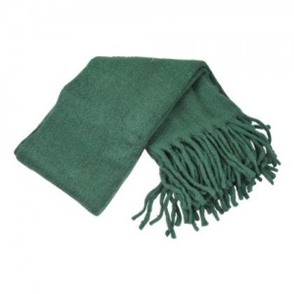 Throw with fringe dark green