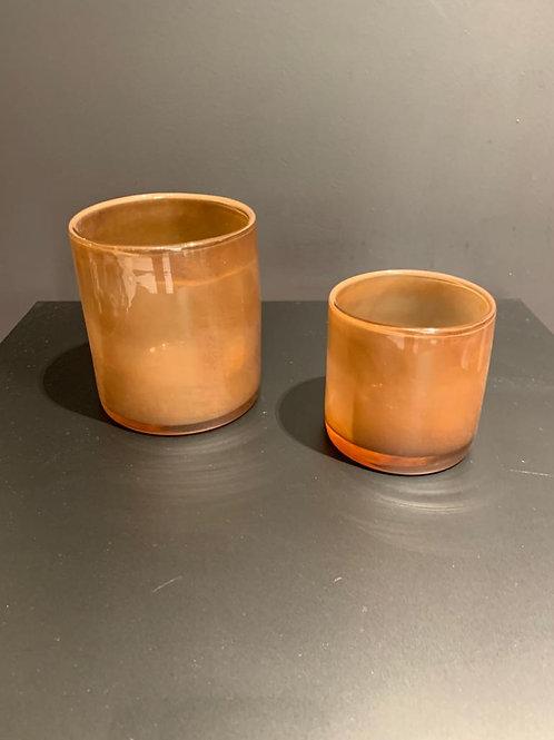 Lyric candleholder brown