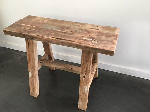 Wood teak bench