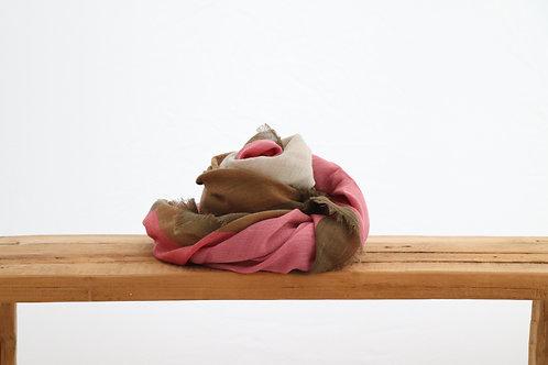 Wool scarf soft pink
