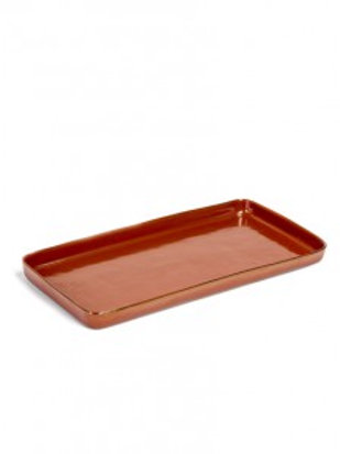 Plate large rectangular rust