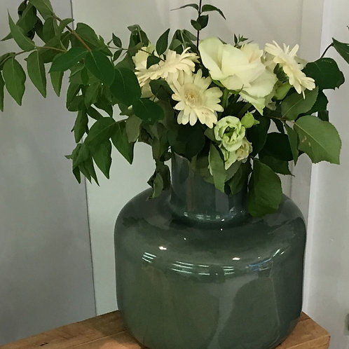 Vase, stoneware, green