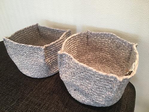 Basket 'Bano' grey
