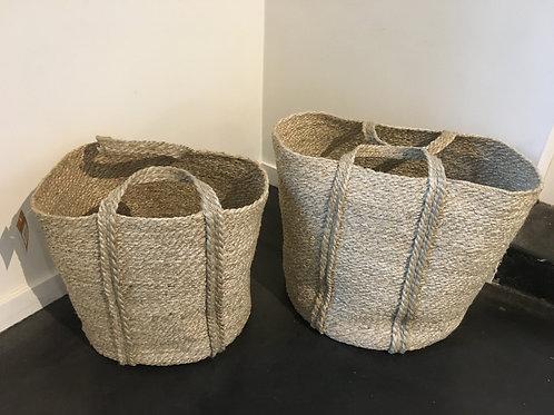 Jute twisted basket